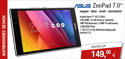 ASUS ZenPad 7.0 Z370C-1A041A 17,8cm C3200/2GB/16GB/Android5