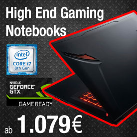 Gaming Notebooks von Hyrican