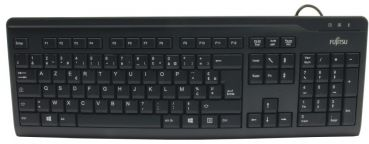 Fujitsu KB410 Slim Keyboard PS2 Black France AZERTY