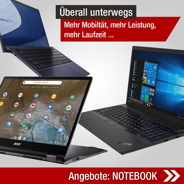 Angebote Notebook Lenovo HP ASUS ACER